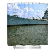 Uss New Jersey Shower Curtain