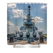 Uss North Carolina Shower Curtain