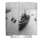Uss Wyoming, C1912 Shower Curtain