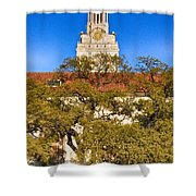 Ut Tower Shower Curtain