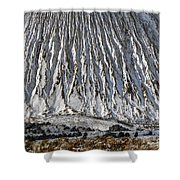 Utah Copper Mine Tailings Pile In Winter Shower Curtain