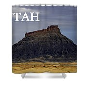 Utah Landscape Factory Butte Shower Curtain