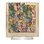 Utah Map Vintage Watercolor Shower Curtain