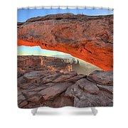 Utah Morning Pastels Shower Curtain