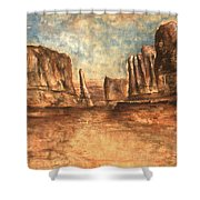Utah Red Rocks - Landscape Art Shower Curtain