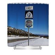 Utah Scenic Highway 12 In Snow Shower Curtain