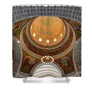Utah State Capitol Rotunda Interior Archways Shower Curtain by Gary Whitton