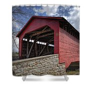 Utica Mills Covered Bridge Shower Curtain