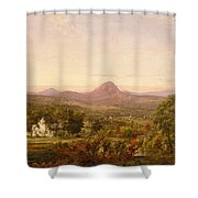 Autumn Landscape Sugar Loaf Mountain. Orange County  New York Shower Curtain