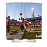 Uva Cheerleaders Shower Curtain by Jason O Watson