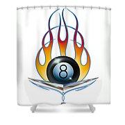 V 8 Shower Curtain