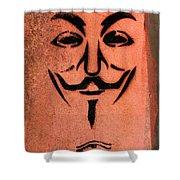 V For Vendetta Shower Curtain