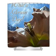 V Glorious Day Words Shower Curtain