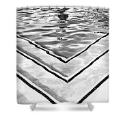 V Shape 2 Palm Springs Shower Curtain