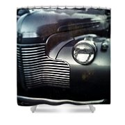 V8 Grill In Gray Shower Curtain