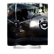 V8 Grill Shower Curtain