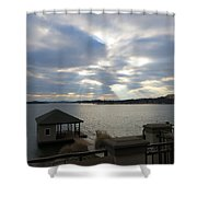 Va March Sunset Shower Curtain