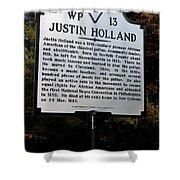 Va-wp13 Justin Holland Shower Curtain