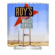 Vacancy Route 66 Shower Curtain