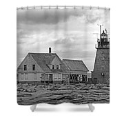 Vacant On The Ocean Shower Curtain