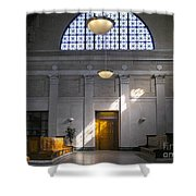 Vacant Railroad Station Shower Curtain