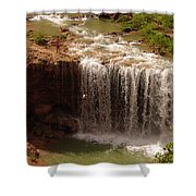 Vacation At Lower Navajo Falls Shower Curtain