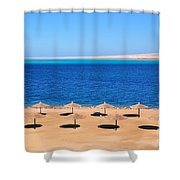 Parasol At Red Sea,egypt Shower Curtain