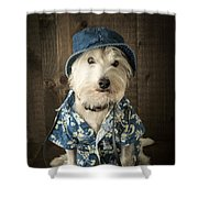 Vacation Dog Shower Curtain