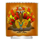 Vacation Turkey Illustration Shower Curtain