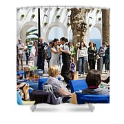 Vacations In Nerja On Costa Del Sol Shower Curtain