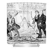 Vaccination Cartoon, 1808 Shower Curtain