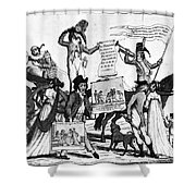 Vaccination Cartoon, C1800 Shower Curtain