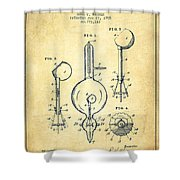 Vacuum Tube Patent From 1905 - Vintage Shower Curtain
