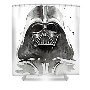 Darth Vader Watercolor Shower Curtain