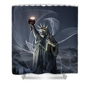 Light Of Liberty Shower Curtain