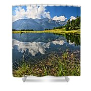 Val Di Sole - Covel Lake Shower Curtain