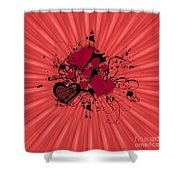 Valentine Day Illustration Shower Curtain