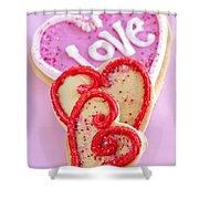 Valentine Hearts Shower Curtain by Elena Elisseeva