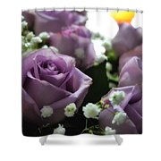 Valentine Purple Shower Curtain