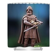 Valentine Thank You From Viking Bear Shower Curtain