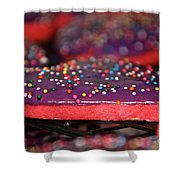 Valentine Treats Scratch Made Shower Curtain