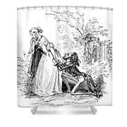 Valentines Day, 1855 Shower Curtain