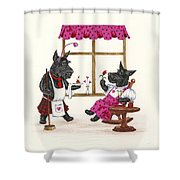 Valentines Day Macduf Shower Curtain