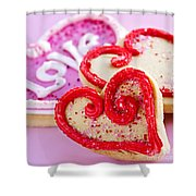 Valentines Hearts Shower Curtain by Elena Elisseeva