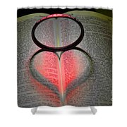 Valentines   Love Shower Curtain