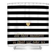 Valentine's Stripe II Shower Curtain by South Social Studio