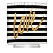 Valentines Stripes Iv Shower Curtain