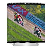 Valentino Rossi Leads Marco Simoncelli Shower Curtain
