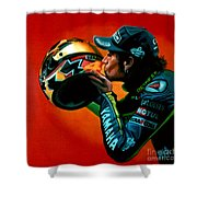 Valentino Rossi Portrait Shower Curtain