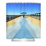 Valero Beach Fishing Pier Shower Curtain